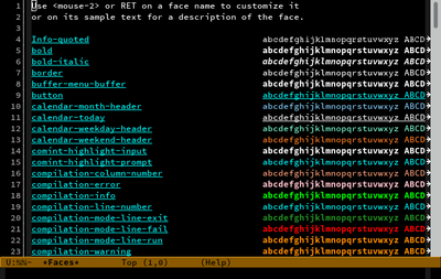 Screenshot von Emacs